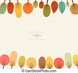 Autumn background with trees