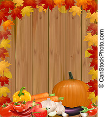 Autumn background with vegetables.