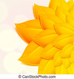 Autumn background with yellow foliage.