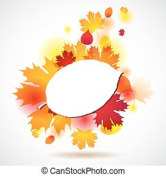 Autumn background with yellow leaves. Vector illustration