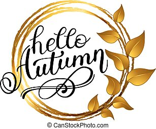 Autumn banner background with paper fall leaves.