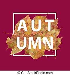 Autumn banner typography