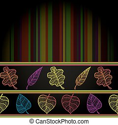 Autumn banner with colorful leaves.