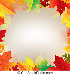 Autumn Banner With Leaves With Gradient Mesh, Vector...