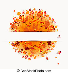Autumn banner with place for your text