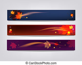 Autumn banners