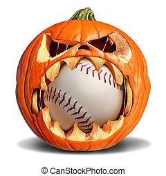 Autumn Baseball - Autumn baseball concept as a pumpkin jack...