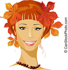 autumn beautiful woman portrait