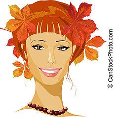 autumn beautiful woman portrait