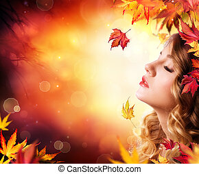 Autumn Beauty - fashion Makeup