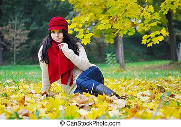 autumn beauty woman