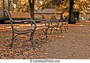 autumn benches