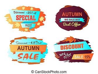Autumn Big Sale Best Offer Vector Illustration