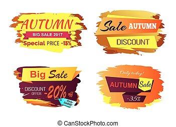 Autumn Big Sale Offer Vector Illustration