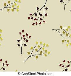 Autumn birch and aspen branches