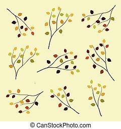 Autumn birch branches