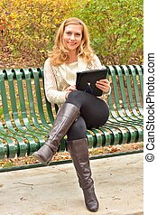 Autumn Blond with Tablet II