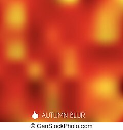 Autumn Blurry Background Illustration