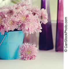 autumn bouquet - beautiful delicate bouquet of pink...