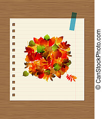 Autumn bouquet with leaf for your design