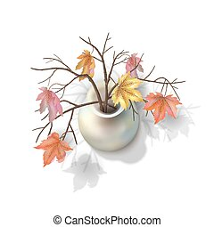 Autumn Branches in a Vase