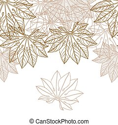 Autumn braun leaves background - vector illustration