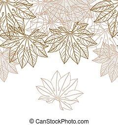 Autumn braun leaves background - vector illustration