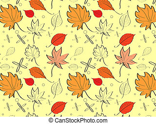 Autumn bright background with yellow leaves and place for your place. Autumn mood.