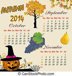 Autumn calendar 2014