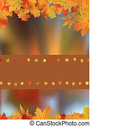 Autumn card with copy space. EPS 8