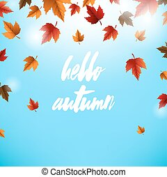 Autumn Card With Leaves