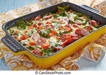 Autumn casserole with sweet potato and kale - Autumn...