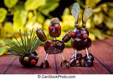 autumn chestnut friends