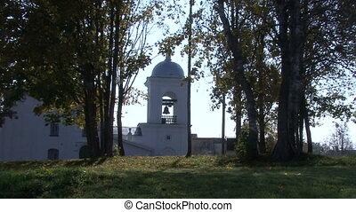 Autumn church dome cross