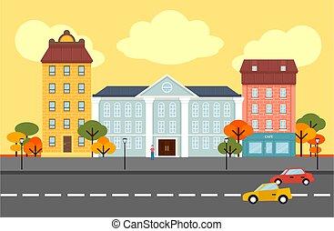 Autumn City Landscape Concept