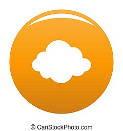 Autumn cloud icon orange