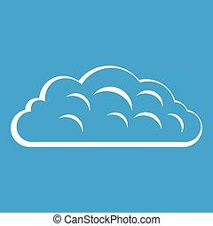 Autumn cloud icon white
