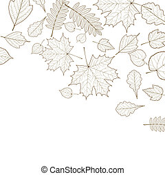 Autumn color leaves background template. EPS10