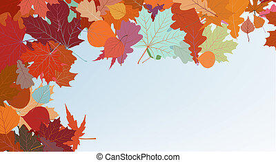 Autumn colorful background. EPS 8