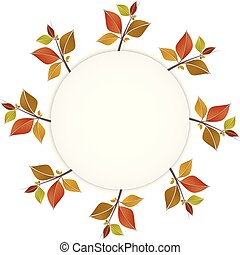 Autumn colorful leaves banner or frame
