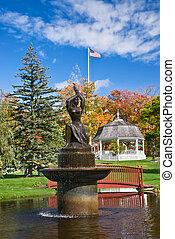 Autumn colors in a park