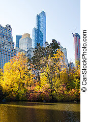 Autumn colors of Central park in New York