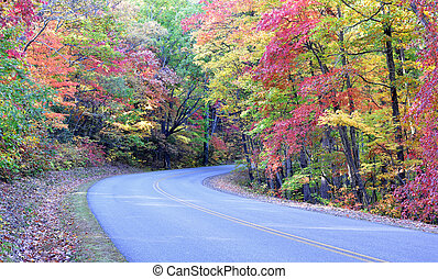 Autumn colors on Blue Ridge Parkway - Autumn colors on the...