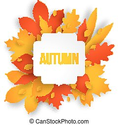 Autumn colotful background with leaves.