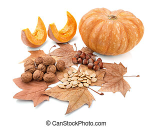 Autumn composition of beautiful gifts of nature.
