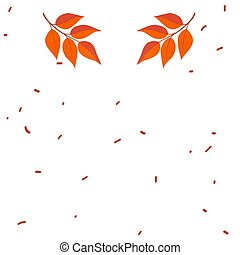 Autumn concept for frames with falling leaves on white background. vector isolated illustration.