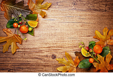 Autumn concept with leaves