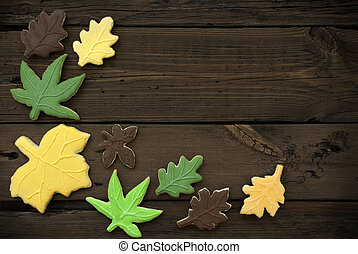 Autumn Cookies on Wooden Background II