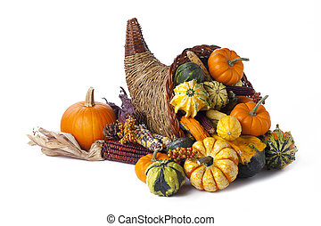 autumn cornucopia - Shot of a autumn themed collection of...