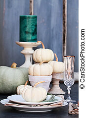 Autumn Country Table Setting